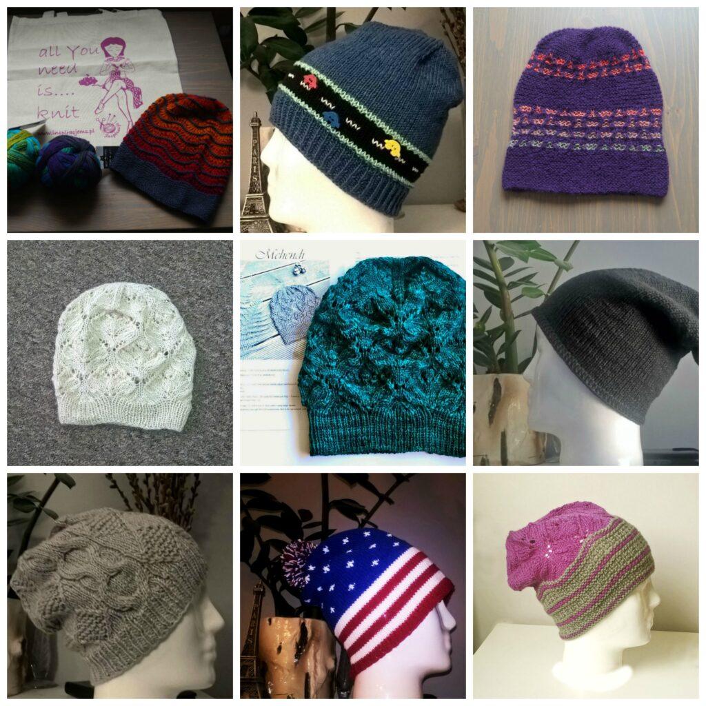 czapki otulove, czapki na drutach