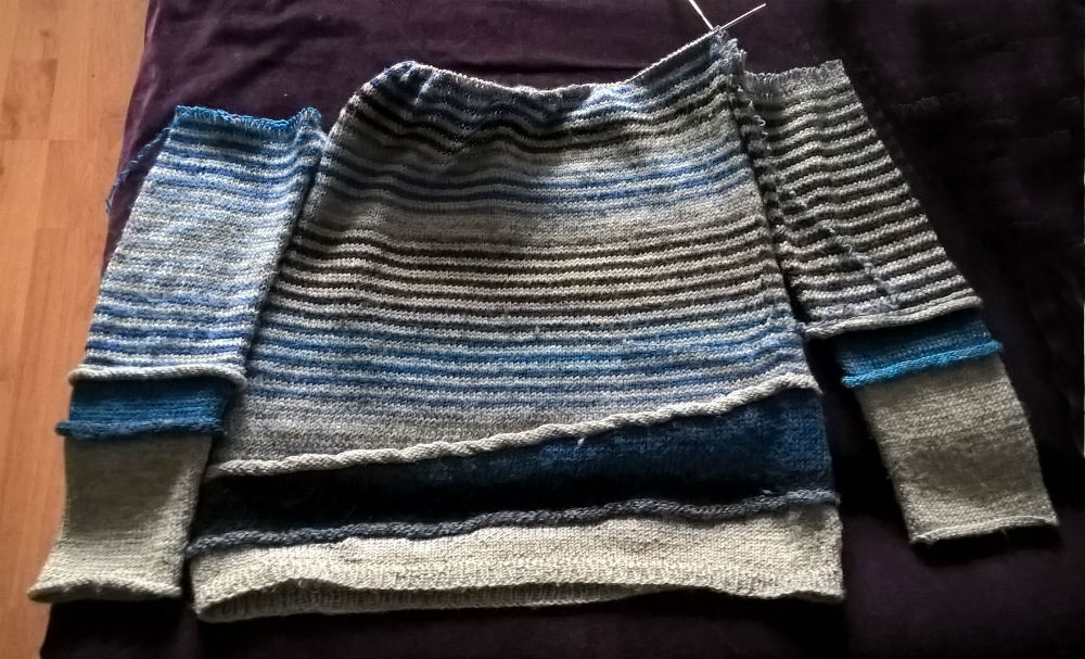 jak przerobić sweter robiony od góry